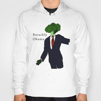 obama Hoodies featuring Barackly Obama by Pattavina