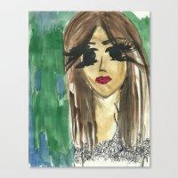 bianca green Canvas Prints featuring green. by Bianca Venessa