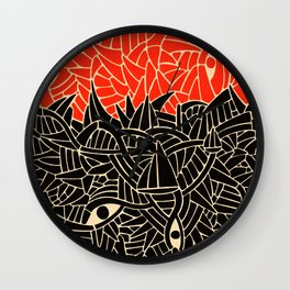 - fall : a red storm and the sea - Wall Clock
