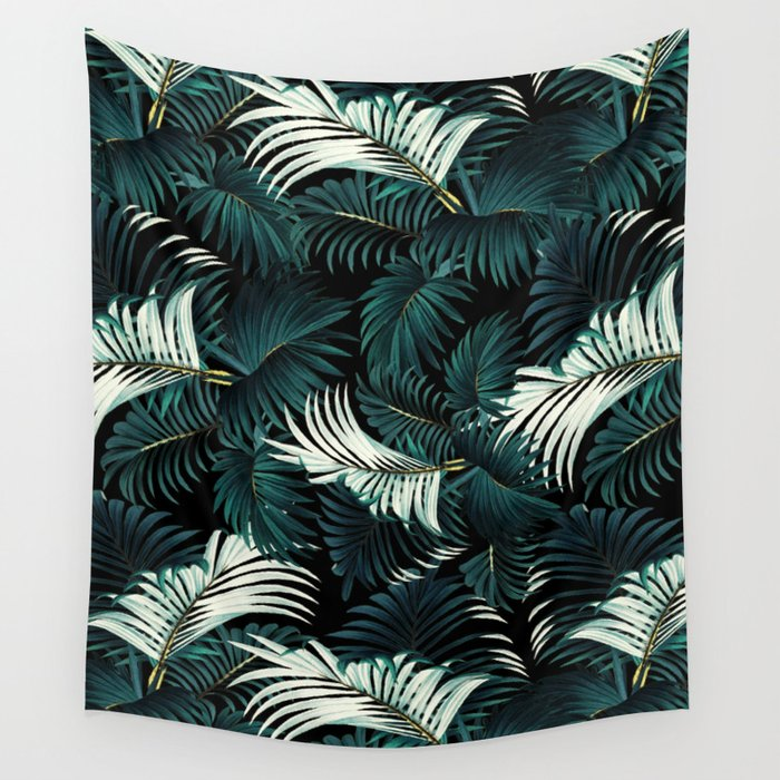 TROPICAL JUNGLE - Night Wall Tapestry