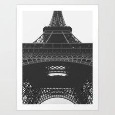 Eiffel Tower Black & White Art Print