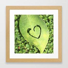 Heart leaf cutting framed art Framed Art Print