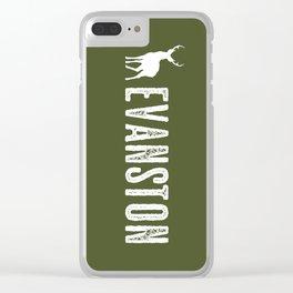 Deer: Evanston, Wyoming Clear iPhone Case