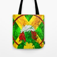 rogue Tote Bags featuring Rogue by Some_Designs