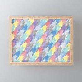 Multicoloured Houndstooth Framed Mini Art Print