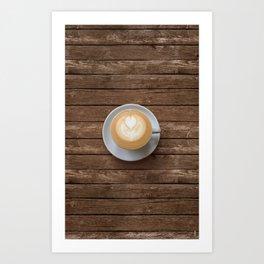 Coffee & Wood Art Print