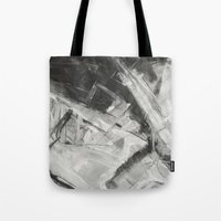 divergent Tote Bags featuring Divergent by Ultie Arts