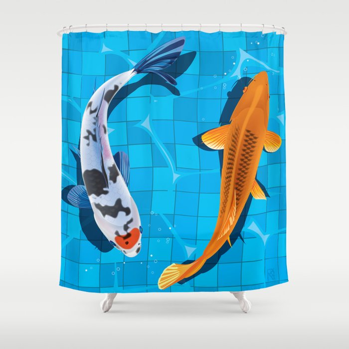 Koi Shower Curtain By Roryvance
