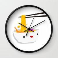 ramen Wall Clocks featuring Ramen! by presuffix