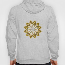 Abstract Flower in Gold Hoody