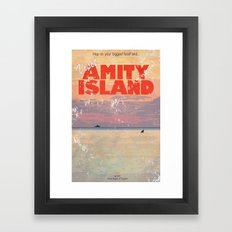 Amity Island Tourism board Framed Art Print