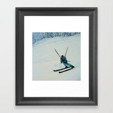 All Downhill Framed Art Print