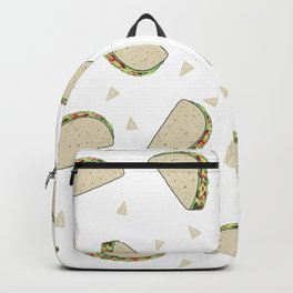 Tacos pattern food art taco design dorm college foodie Backpack