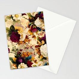Vintage & Shabby Chic -  Nostalgic Winter Florals Pattern Stationery Cards