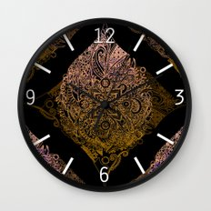 Detailed diamond, bordeaux glow Wall Clock