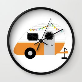 Wanderlust Wheels Wall Clock