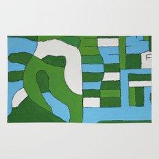 Green Map Rug