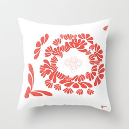 CORAL:  healthy boundaries Throw Pillow