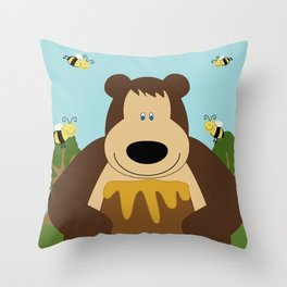 I ♥ honey Throw Pillow