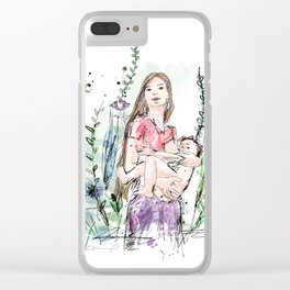 Natural Breastfeeding Clear iPhone Case