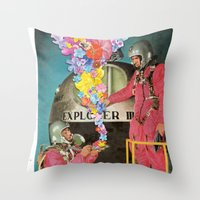 hologram Throw Pillows featuring Hologram by Ben Giles