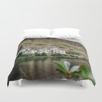 downton abbey Duvet Covers featuring Kylemore Abbey by Savannah Smith Photography