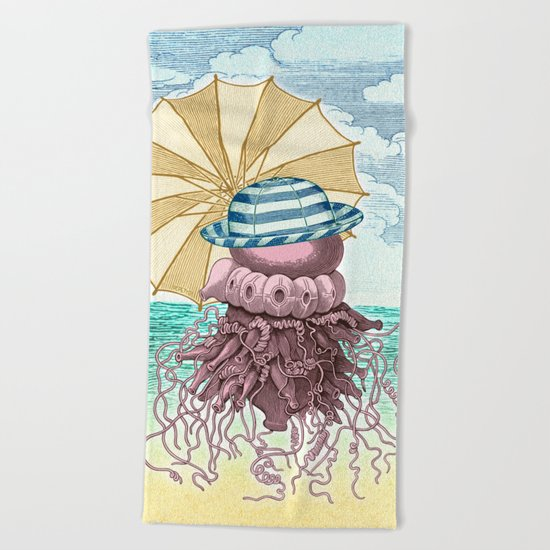 Summer Promenade Beach Towel