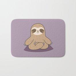 Kawaii Cute Yoga Sloth Bath Mat