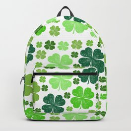 Saint Patrick's Day, Clovers - Green White Backpack
