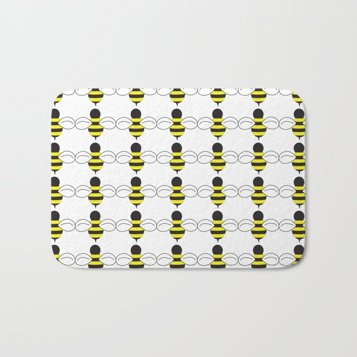 Bee Swarm Bath Mat