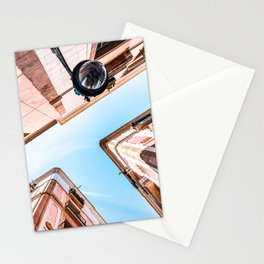 Gothic Quarter, El Raval, Barcelona City, Perspective View, Downtown Barcelona Spain, Travel Print, Vintage Architecture Stationery Cards