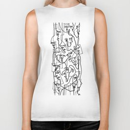 Curves And Lines Biker Tank