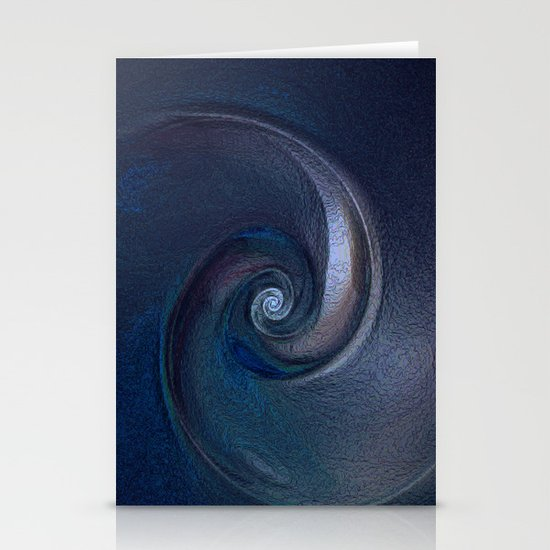 Sea Shell in Dark Blue Stationery Cards