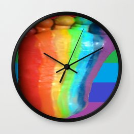 RAINBOW COLORS DUVET COVER Wall Clock