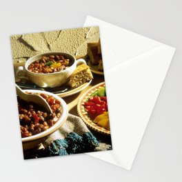 Chili with Cornbread  Stationery Cards