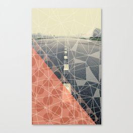 Earn the Downhill Canvas Print