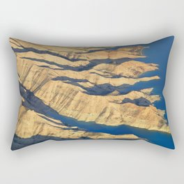 Bad lands at the lake Rectangular Pillow
