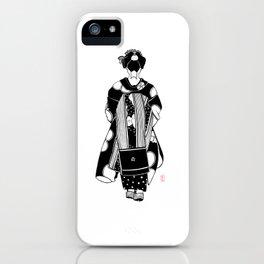 Ink Drawing | Maiko Kimono iPhone Case