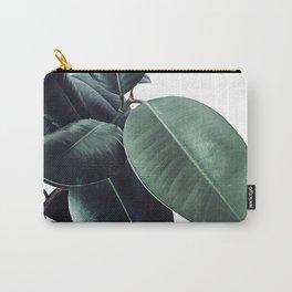 Ficus Elastica #18 #White #foliage #decor #art #society6 Carry-All Pouch