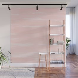 Pale Pink Abstract Brush Print Wall Mural