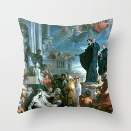 Peter Paul Rubens The Miracles of St. Francis Xavier Throw Pillow