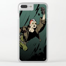 Super Heroine Clear iPhone Case