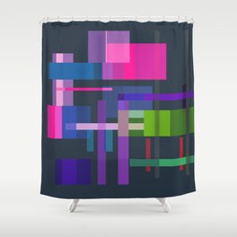 Imitation Mid-20th Century Abstraction, No. 3 Shower Curtain