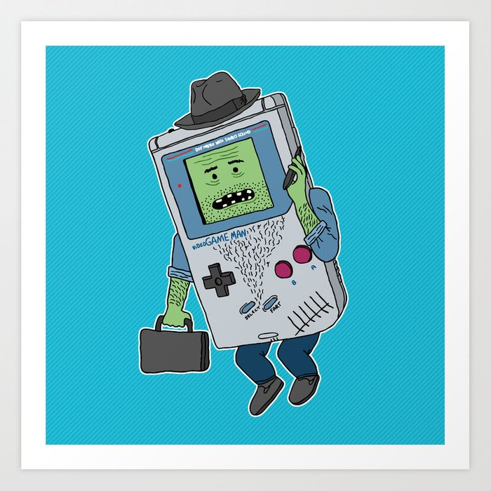Game Man Art Print