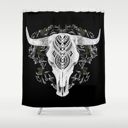 Death is a Black Rose Shower Curtain