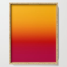 sunSET Ombre Gradient Serving Tray