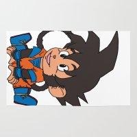 goku Area & Throw Rugs featuring Monkey Goku by Kame Nico