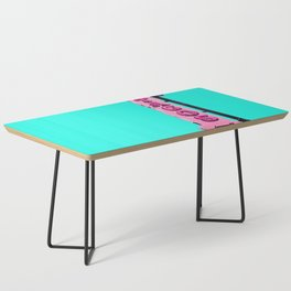 Cha-Cha's Tacos Retro Vintage Pink Sign Coffee Table