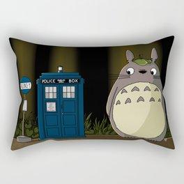 Allons-y Totoro Rectangular Pillow
