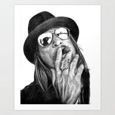 Kid Rockin' Up & Down Your Block Art Print